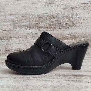 🔵Born Black Leather Mule